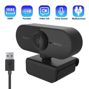 HD Webcam 1080P Kamera USB 3.0 2.0 Mit Mikrofon für PC Laptop Computer Mac DE