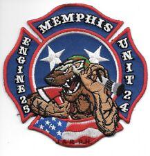 """Memphis  Engine-25 / Unit - 24, TN  (4.5"""" x 4.5"""" size) fire patch"""