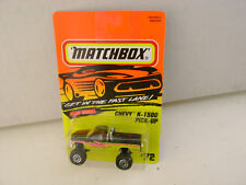 1995 MATCHBOX SUPERFAST MONSTER TRUCK #72 CHEVY K-1500 PICK-UP NEW ON CARD