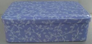 Heathcote & Ivory Wild English Lavender Tin - 6 cm Depth - EMPTY - No Contents