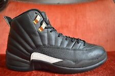 Nike Air Jordan 12 XII Retro The Master Black Metallic Gold 130690-013 Size 8
