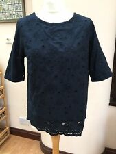 SUPERDRY Pretty Summer Cotton Embroidery Anglaise  Lined  Top - Size S - bnwot