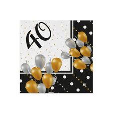 PARTY STORE TOVAGLIOLI 18 Anni Prestige 20 PZ 25X25 CM Decorazione TAVOLA Auguri DICIOTTESIMO Compleanno