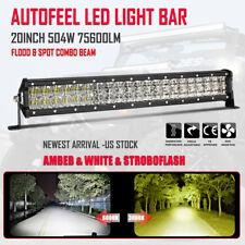 20inch 504W Vs 1560W LED Light Bar Spot Flood Combo Offroad Amber White Foglight