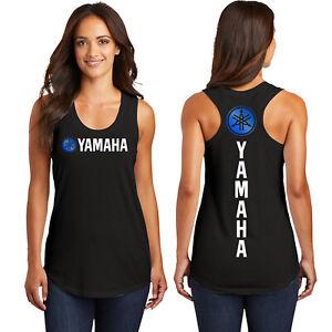 YamahaYamaMama YamaHoney Ladies Metallic Tank Racerback Ring Spun Triblend