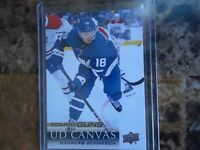 2018-19 upper deck young guns ud canvas andreas johnsson maple leafs