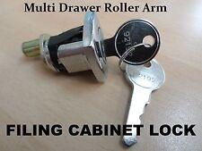 Multi Drawer Roller Arm Steel Filing Cabinet Furniture Cupboard Lock KEY