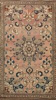 Antique Geometric Traditional Area Rug Wool Hand-knotted Oriental Carpet 4x7 ft