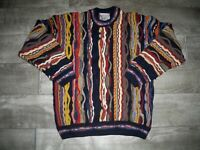 Vintage Meeroo Australia Sweater Jumper Colorful Medium Men's Cosby Biggie Style