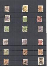 Memel, Litauen 1923, Einzelwerte aus MiNrn: 135 - 173 o, geprüft Huylmans BPP