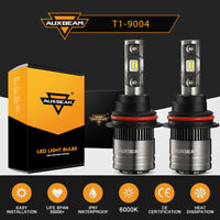AUXBEAM 9004 HB1 LED Headlight Hi/Lo Beam Bulbs White 6500K with Canbus Adapter