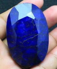 MASSIVE 55x35mm (375cts) OVAL-FACET CERTIFIED NATURAL MIDNIGHT-BLUE SAPPHIRE GEM