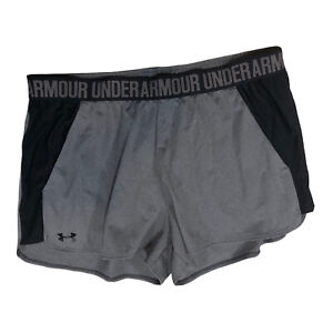 Under Armour HeatGear Loose Fit Athletic Shorts Womens Size XL Gray J1E