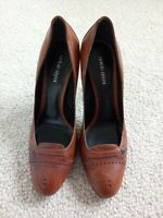 Ladies Giorgio Armani Heels Shoes Brown/Tan UK Size 5 Made in Italy