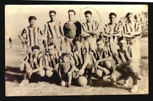 c1948 Photo Postcard Peñarol Team with Ghiggia Varela &  World Champions