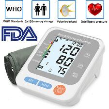 Automatic Arm Blood Pressure Monitor Digital BP Cuff Pulse Heart Rate Machine