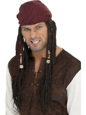 Mens Captain Jack Pirate Pirate Sparrow Wig