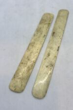 Lot Of 2 Vintage Bone Letter Openers , Bookmarks Or Page Dividers 8� & 9�