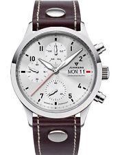 Junkers Men's Chronograph Pilot Watch Cockpit Braun/Silver Chrono 9.14.01.03