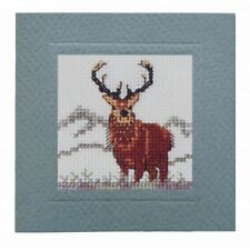 Stag Miniature Card Counted Cross Stitch Kit by Textile Heritage