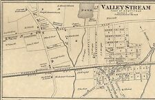 Valley Stream Seaford Ridgewood NY 1873 Map with Homeowners Names Shown