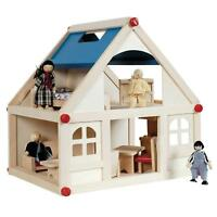 Wooden Kids 2 Y Doll House With Furniture Accessories Playhouse Toys Uk