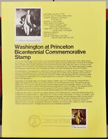 USPS 1977 First Day Issue Souvenir Page, Washington at Princeton - $0.13