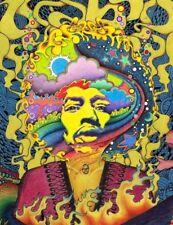 Psychedelic Trippy Jimi Hendrix Art Silk Poster 12x18inch