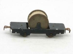 """Marx 6"""" Black Cable Reel Car with Rope 566"""
