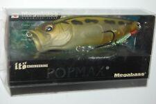 "megabass yuki ito popmax Usa pop max 3 1/4"" 1/2oz bass popper mat frog"