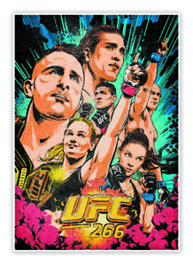 UFC 266 ARTIST SERIES POSTER TRADING CARD BUTCHER BILLY 2021 PANINI INSTANT UFC