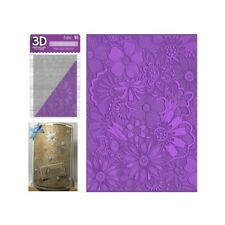 Floral Fusion Embossing Folder Crafter's Companion Embossing Folders 3D 5x7