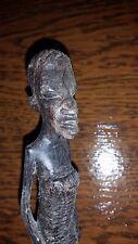 ANCIENNE STATUE SCULPTURE STATUETTE FEMME BOIS AFRIQUE AFRICAIN H 20 cm SENEGAL