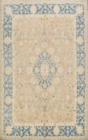 8x10 Floral Authentic Oushak Turkish Area Rug Handmade Wool Vegetable Dye Carpet