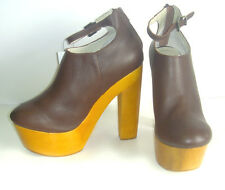 "Chic NEW Brown MESSECA NY Gavin PLATFORM 5 5/8"" Heels/SHOES $200  9M"
