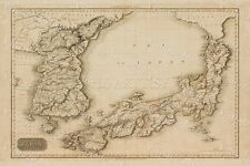 LARGE HISTORIC 1815 Pinkerton's Map Sea of Japan OLD ANTIQUE STYLE MAP art print
