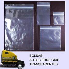 500 BOLSAS (4,5x11) AUTOCIERRE GRIP TRANSPARENTES BOLSAS TRANSPARENTES