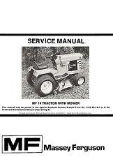 Massey Ferguson MF-14 MF14 Lawn and Garden Tractor Service Manual 1448-818-M1