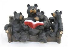 Cute Whimsical Bear Family Reading Wildlife Figurine Indoor Home Decor
