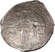 ALEXIUS I Comnenus  1081AD Silver Ancient BYZANTINE Coin CHRIST i22670