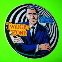 The TWILIGHT ZONE Original NOS PINBALL MACHINE Promo Plastic Rod Serling Bally