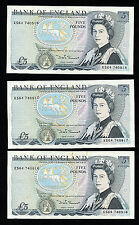 England Great Britain Three 5 Pound Series D Sommerset Bank of England Notes