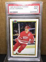 1990 Bowman Tiffany Steve Yzerman #233 PSA 9 SSP Detroit Red Wings HOF