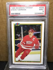 1990 Bowman Tiffany Steve Yzerman #233 PSA 9 SSP Detroit Red Wings HOF