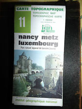 Carte IGN 11NANCY METZ LUXEMBOURG 1981