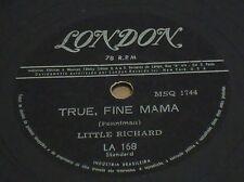 "LITTLE RICHARD 1958 True Fine Mama/ Ooh my soul 10"" RARE London 78 RPM BRAZIL"