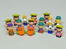 "Large Lot of McDonald's Happy Meal Toys Peanuts Down on the Farm 3"" Vinyl"