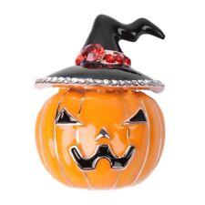 Women Fashion Vintage Pumpkin Hat Brooch Pin Halloween Thanksgiving Jewelry Gift