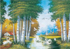 3D Effect Lenticular Printing Moving Picture Wall Decor *Swan Lake*