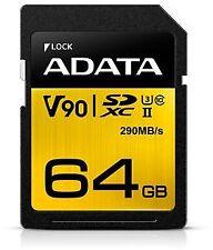 ADATA ASDX64GUII3CL10-C 64GB UHS-II-U3 SD 4.0 (SDXC) Memory Card ~E~